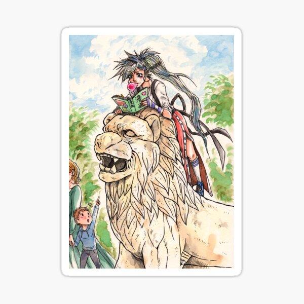 Lion girl Sticker