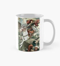 SHE PUT HER GOOD STEED TO THE WALLS AND LEAPT LIGHTLY OVER THEM from the story HOW STAVR THE NOBLE WAS SAVED BY A WOMAN'S WILES in The Russian Story Book Classic Mug