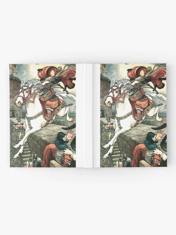 Alternate view of SHE PUT HER GOOD STEED TO THE WALLS AND LEAPT LIGHTLY OVER THEM from the story HOW STAVR THE NOBLE WAS SAVED BY A WOMAN'S WILES in The Russian Story Book Hardcover Journal