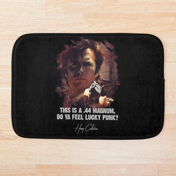 ★ DIRTY HARRY ★ Do Ya Feel Lucky Punk? ➢ Clint Eastwood famous movie quote ♛ Bath Mat