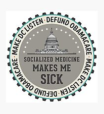 Defund Obamacare Photographic Print