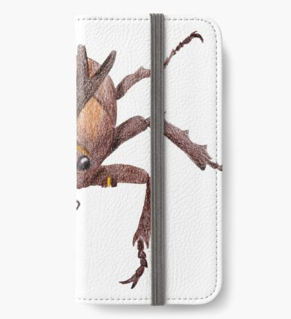 Japanese Rrhinoceros Beetle iPhone Wallet