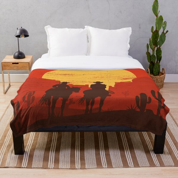Cowboys of the Wild West - Journey Throw Blanket