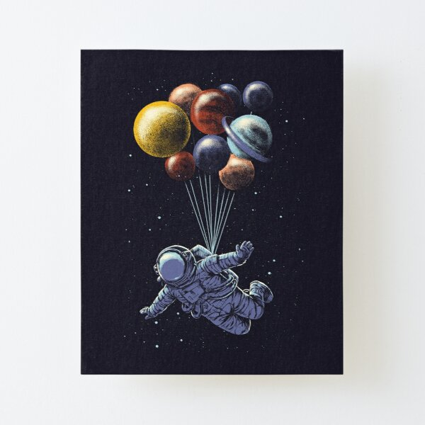 Space Travel Canvas Mounted Print