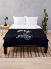 Space Travel Throw Blanket