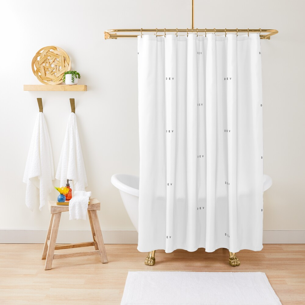 Dev (minimal) (Inverted) Shower Curtain