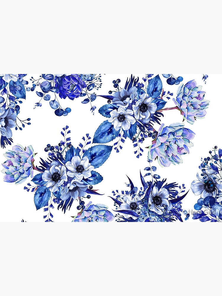 Blue Floral Design by NoraMohammed