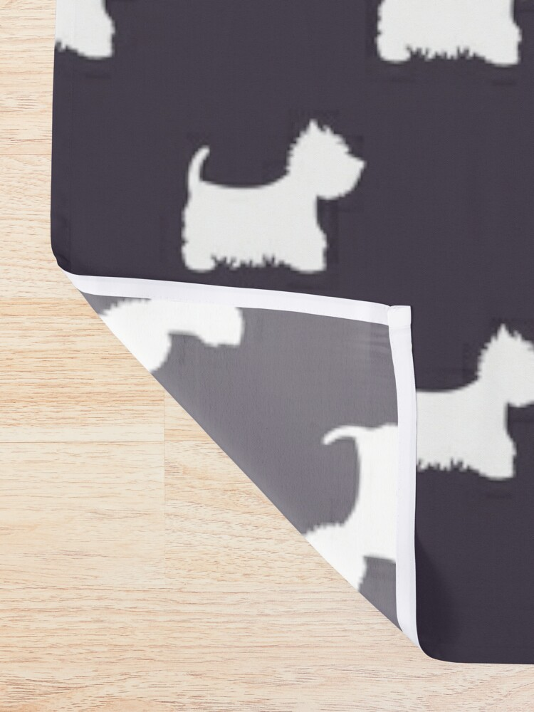 Alternate view of Westie Shower Curtain