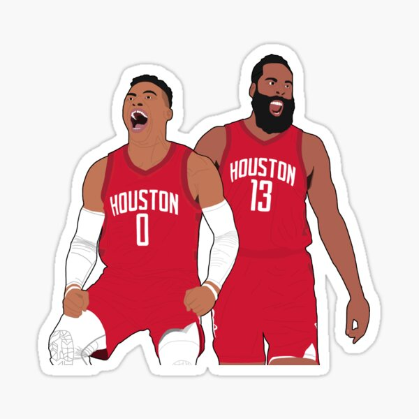 Westbrook and Harden Sticker