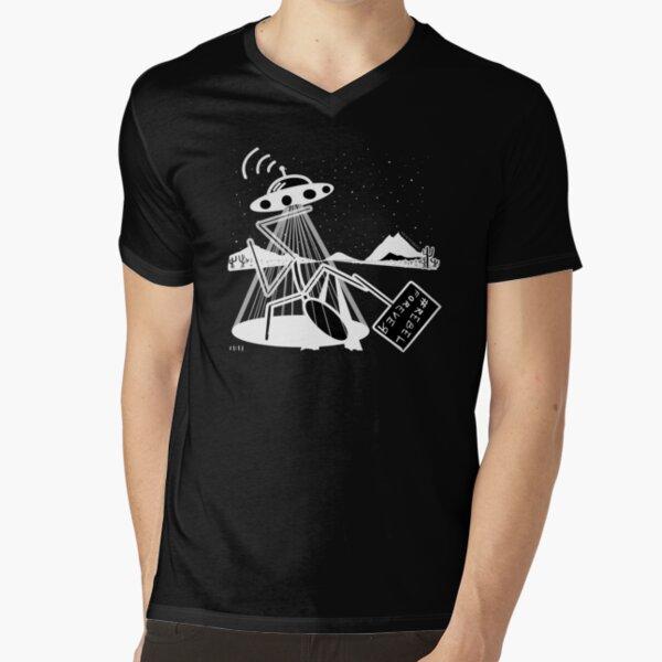 R3bEL_f0R3v3R (second edition - black tee) V-Neck T-Shirt