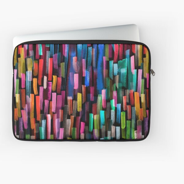 Multicolored watercolor stripes pattern Laptop Sleeve