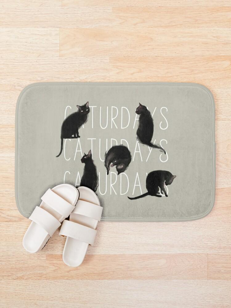 Alternate view of Caturdays - Black Cat Bath Mat