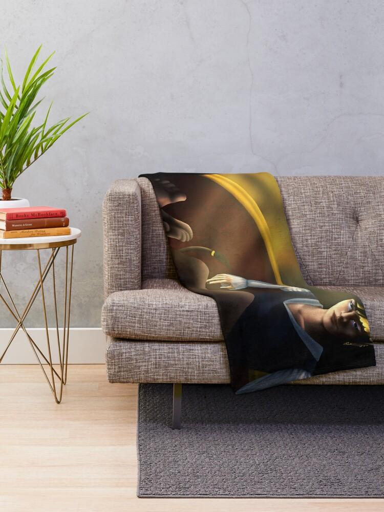 Alternate view of High King Cardan Throw Blanket