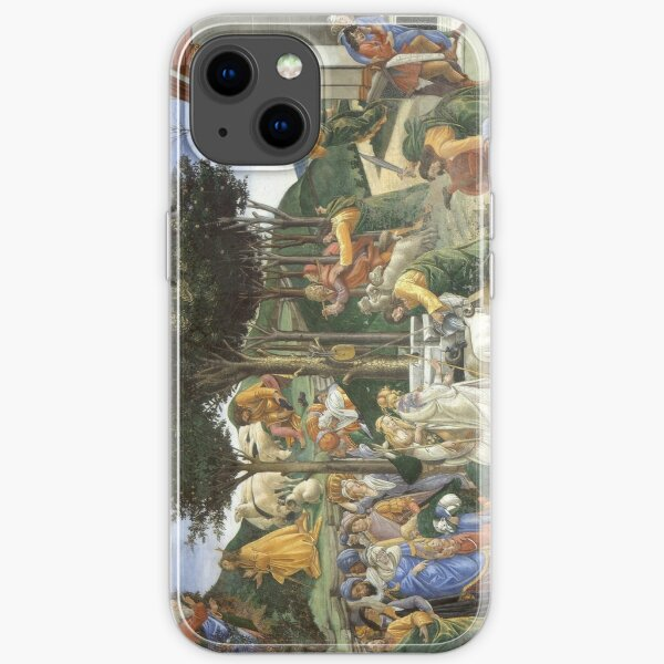 Trials of Moses Painting by Botticelli - Sistine Chapel iPhone Soft Case