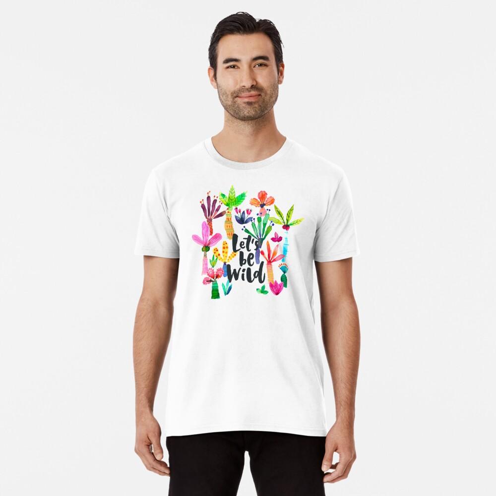 Jungle tropical garden - Fun palms pattern Premium T-Shirt