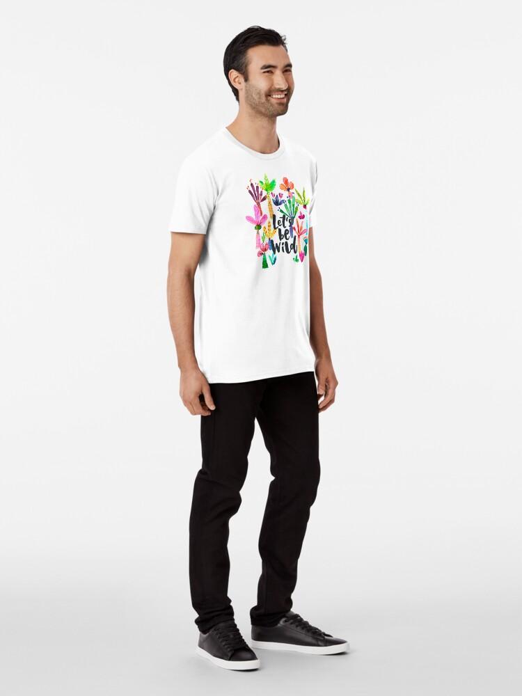 Alternate view of Jungle tropical garden - Fun palms pattern Premium T-Shirt