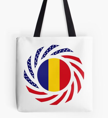 Romanian American Multinational Patriot Flag Series Tote Bag