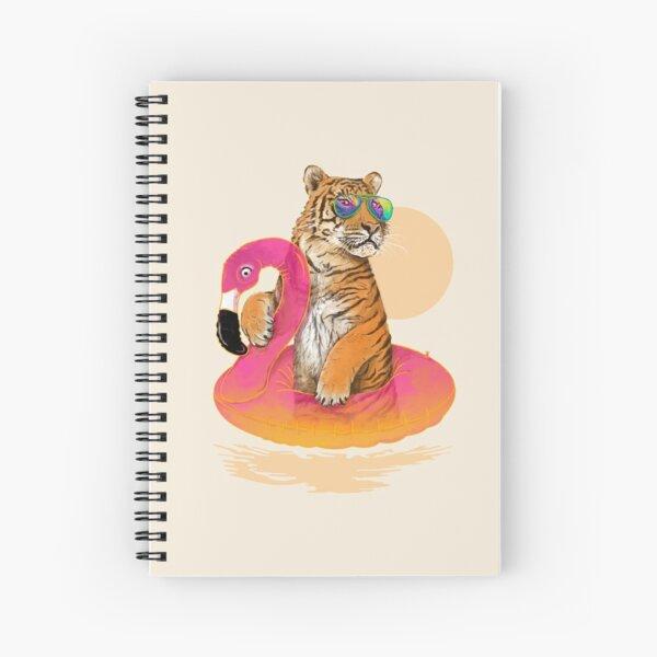 Chillin, Flamingo Tiger Spiral Notebook
