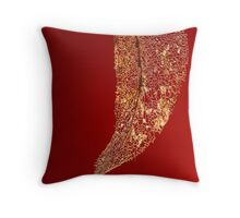 Framework in Red Throw Pillow