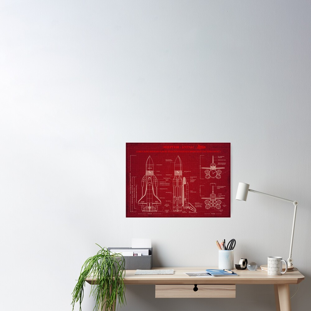 BURAN-ENERGY (Red Print) - Russian Version Poster