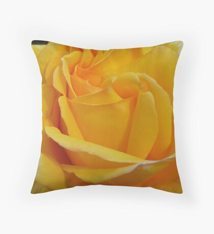 The Sunny Side of Yellow Throw Pillow