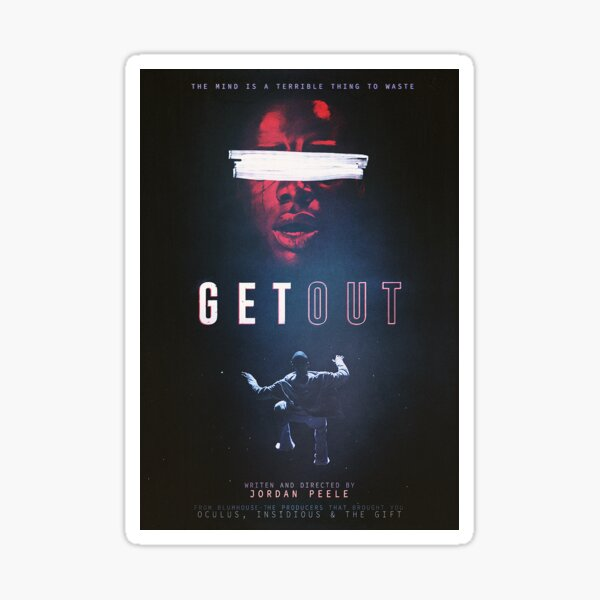 Get Out - Movie Poster Sticker