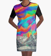 Vestido camiseta Skyfall, fusión de la aurora boreal