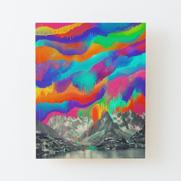 Skyfall, Melting Northern Lights Wood Mounted Print