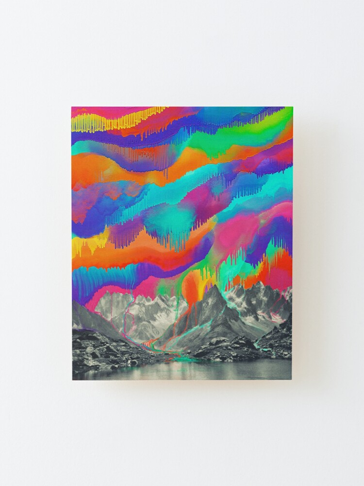 Alternate view of Skyfall, Melting Northern Lights Mounted Print