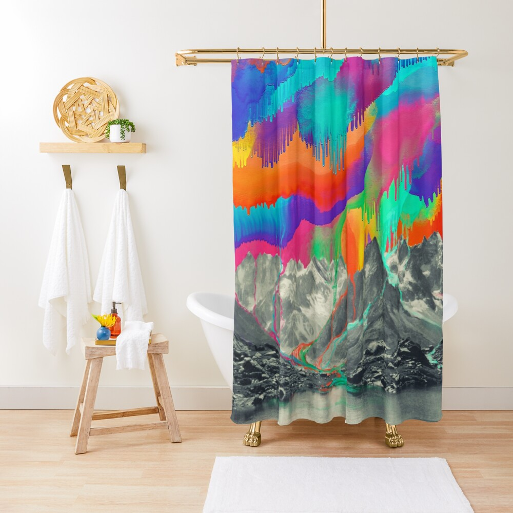 Skyfall, Melting Northern Lights Shower Curtain