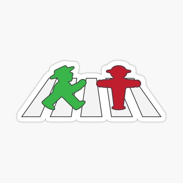 ampelmannchen on crosswalk Sticker