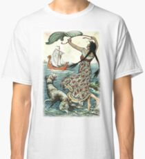 THE BLACK-BROWED MAID STOOD UPON THE BANK AS THE RED SHIP SAILED AWAY FROM NOVGOROD from the story VASILY THE TURBULENT in The Russian Story Book Classic T-Shirt