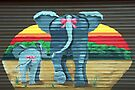 Elephants at the Garage Door by simpsonvisuals