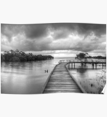 Storm clouds at high tide Poster