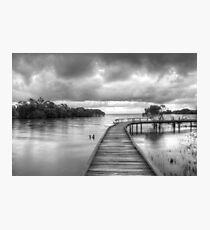 Storm clouds at high tide Photographic Print