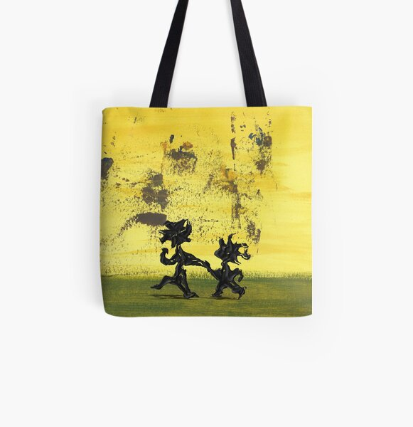 Dance Art Dancing Couple 147 Allover-Print Tote Bag