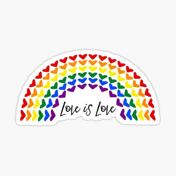 Heart Rainbow - Love is Love Sticker