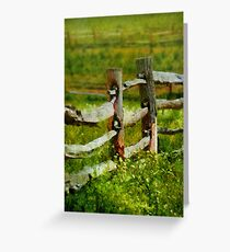 Country - The old fence post  Greeting Card