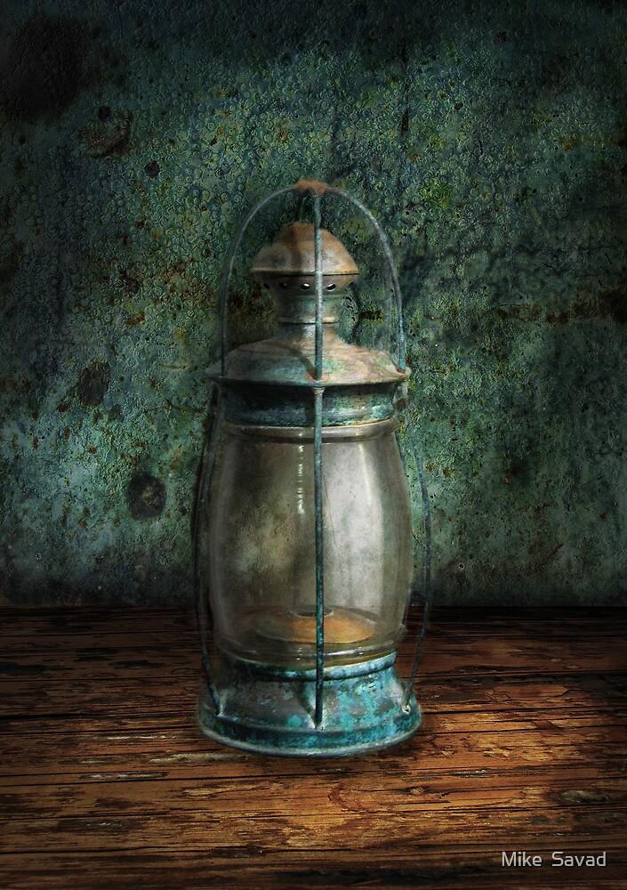 Steampunk - An old lantern by Mike  Savad