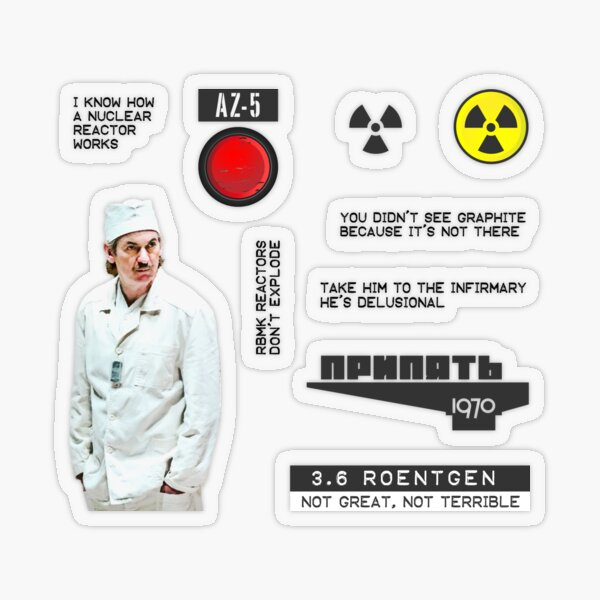 Chernobyl Mini Sticker Set Transparent Sticker