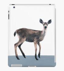 Deer on Slate Blue iPad Case/Skin