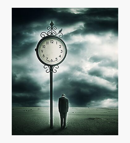 And when the Clock stops.. Photographic Print