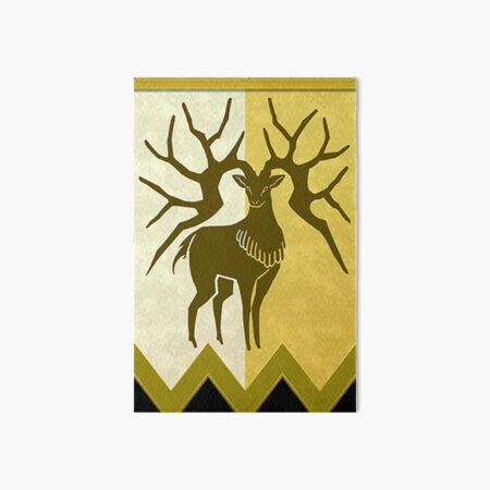 Golden Deer Emblem Art Board Print