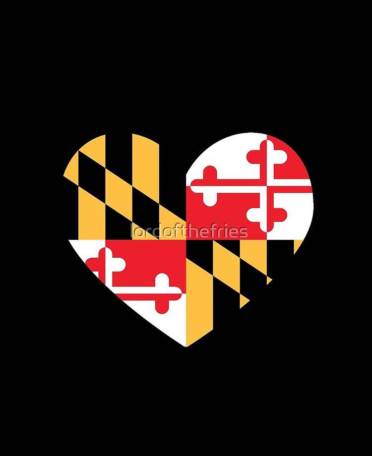 Apply to Mug Phone Laptop Water Bottle Decal Cooler Bumper Maryland Flag Lord Calvert Baltimore Ravens Blue Crab Terps Home Inner Harbor Home Love Heart in Maryland Sticker MD State Shaped Label