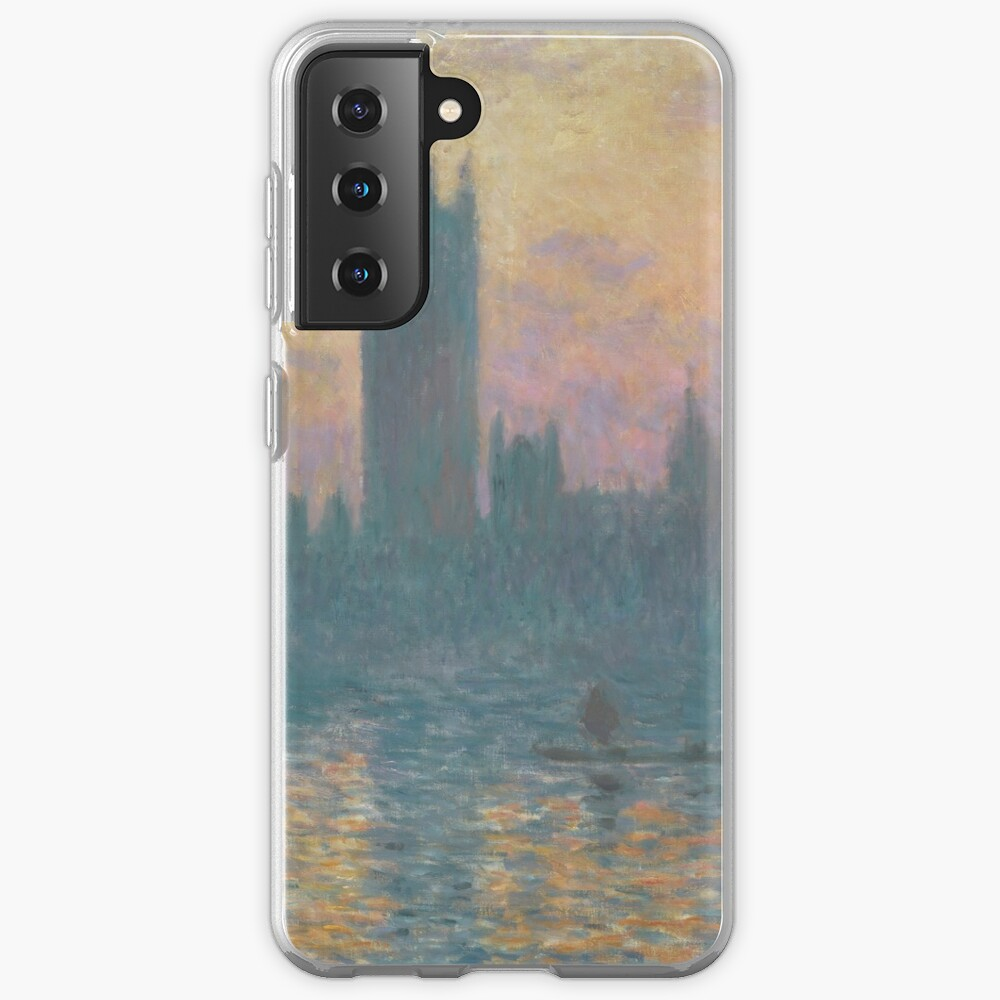 The Houses of Parliament Sunset by Claude Monet Case & Skin for Samsung Galaxy