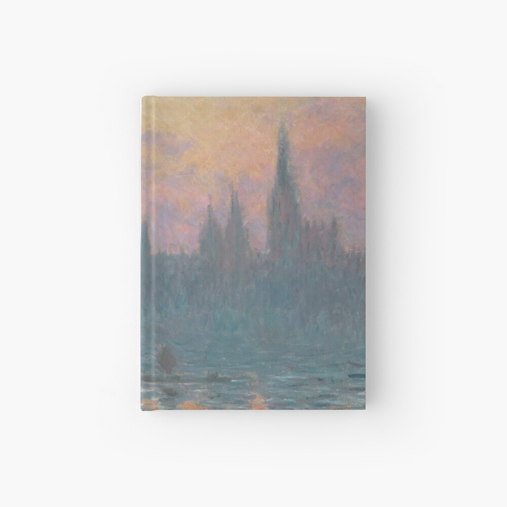 The Houses of Parliament Sunset by Claude Monet Hardcover Journal