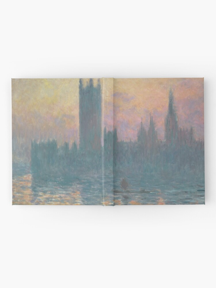 Alternate view of The Houses of Parliament Sunset by Claude Monet Hardcover Journal