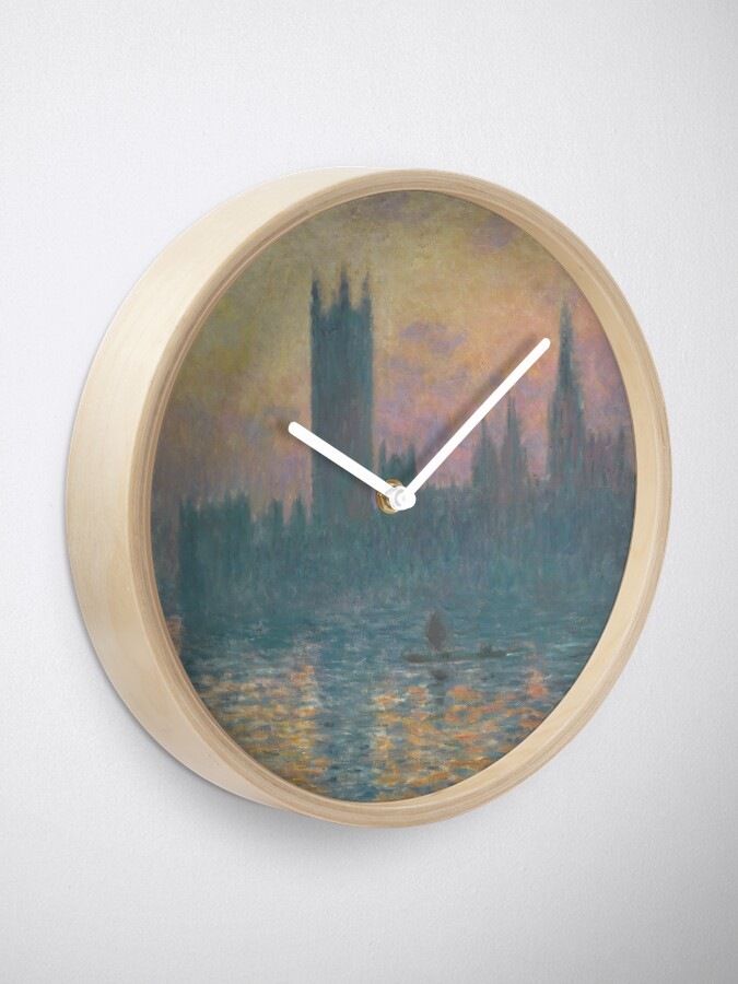 Alternate view of The Houses of Parliament Sunset by Claude Monet Clock