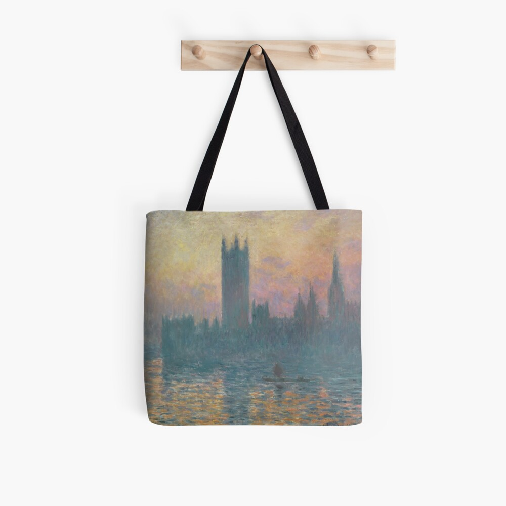 The Houses of Parliament Sunset by Claude Monet Tote Bag