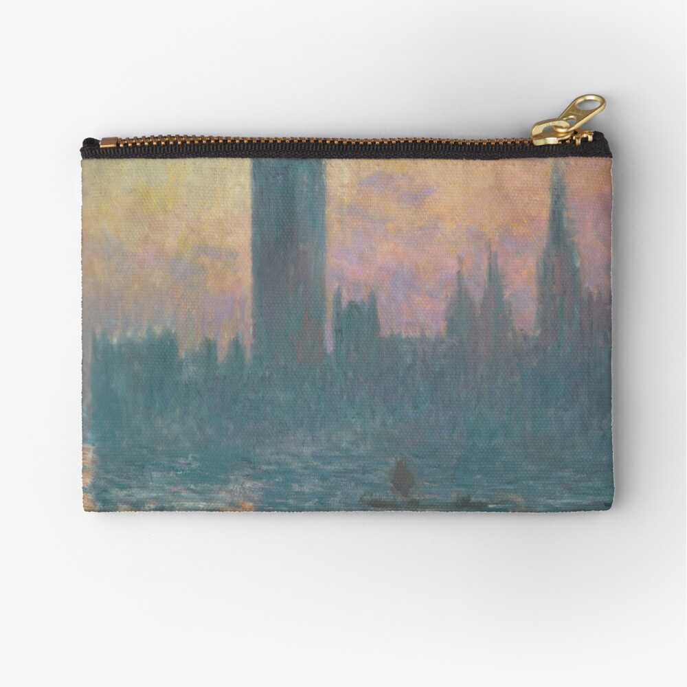 The Houses of Parliament Sunset by Claude Monet Zipper Pouch